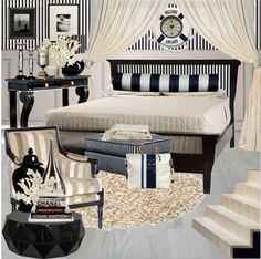 """Chic sailor bedroom"" by gio-beautiful-life ❤ liked on Polyvore"