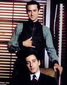Robert DeNiro & Al Pacino  (The Godfather Part 2)-Titans! They belong on the Mount Rushmore of Actors.