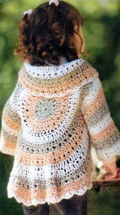 Knitting And Beading Wedding Bridal Accessories and Free pattern: Handmade circular crochet shrug bolero cardigan hippie vest for girls / Free cardigan crochet pattern