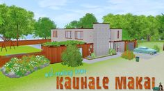 Mid-Century Home Kauhale Makai   SNW   SimsNetwork.com #thesims3 #house #home #midcentury #50s #desims3 #hawaii #thesims #sims