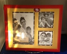 8 X 10 49er's inspired picture frame by crafteyideas on Etsy