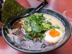 Ramen noodles don't come out of a styrofoam cup in Japan. Japanese ramen consists of Chinese-style noodles served in a meat broth flavored with soy sauce or miso. Each region of Japan has its own variation, and toppings range from boiled egg to corn.