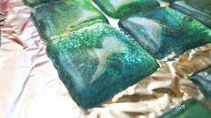"""Tutorial : Reciclado de CD hacer """"glass tiles"""". ♥♥el tocador de Cenicienta"""