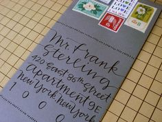 love the sideways envelope! Hey #APWhowto can you show me how to approximate this without paying someone to do calligraphy?!