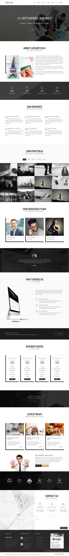 Leisure Sols is perfect WordPress landing page #template for startups, #corporate, business #company website. Download Now!