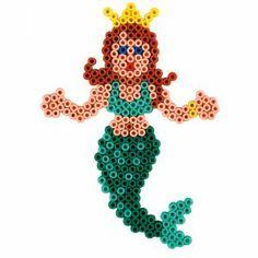 Bügelperlen Hama Meerjungfrau (Stiftplatte Prinzessin)