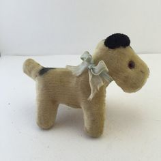 Small Toy Terrier Dog Steiff Style Stuffed Animal by ravished