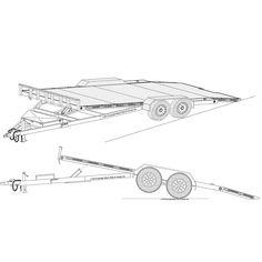 19'x82″ Hydraulic Car Carrier Trailer Plans – Model 18HT