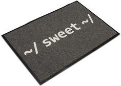 "For the computer geeks: ThinkGeek :: ""~/ Sweet ~/ Welcome Mat"""