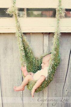 HIS Newborn Baby BOY Hammock photo prop Moss by HappyThreads1, $42.00