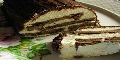 Ингредиенты:  Шоколадное печенье «Юбилейное» с глазурью – 12 штук; Творог – 500 грамм; Сметана 2...