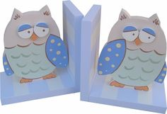 Blue Owl Bookends | Jack and Jill Boutique