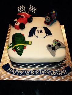 18th birthday hobbies cake