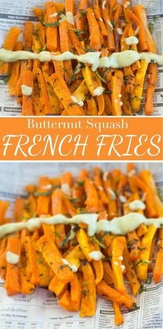These Butternut Squash French Fries Are Very Healthy And Delicious. A Perfect Healthy Snack Recipe For Kids And Adults. Pressed With Vitamin An And Vitamin C Healthy Snacks, Kid Snacks, After School Snacks, Healthy French Fries, Butternut Squash Recipes Healthy Side Dishes, Vegetable Side Dishes, Side Dish Recipes, Vegetable Recipes, Vegan Recipes, Snack Recipes, Cooking Recipes, Appetizer Recipes, Yummy Recipes