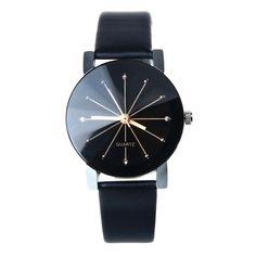 2b29f9edabe Luxusní dámské společenské stylové černé hodinky s koženým páskem Na tento  produkt se vztahuje nejen zajímavá