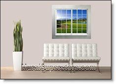 Golf Course Window Wall Mural