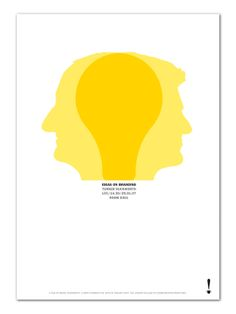 Poster for a David Turner & Bruce Duckworth lecture on ideas, designed by Turner Duckworth
