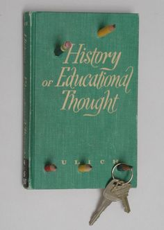 old book into a key hanger ~ great teacher gift