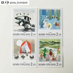 いいね!5,045件、コメント22件 ― Moominさん(@moominofficial)のInstagramアカウント: 「Ooh! They sure are beautiful - old #Moomin stamps  #Repost @anna_kiviniemi (@get_repost) ・・・ Made…」 Moomin, Baseball Cards, Cover, Books, Anna, Beautiful, Instagram, Libros, Book