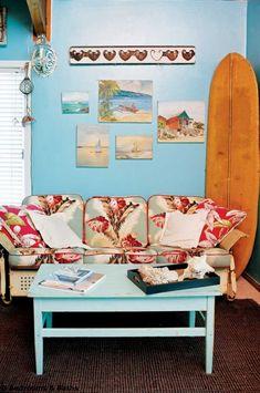 Retro Beach Cottage Bedroom