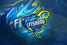 , Fishing Hunter - Mascot Sport Logo- Suitable for your design needs, All elements on this template are editable with adobe illustrator! Unique Logo, Cool Logo, Logan, Logo Rabbit, Envato Elements, Esports Logo, Fish Logo, Fish Design, Logo Sticker