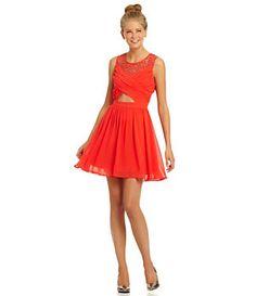 GB Cut-Out Illusion Dress   Dillard's Mobile