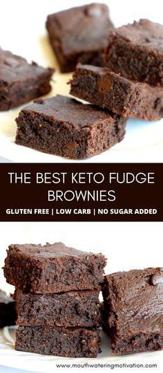 Keto Fudge, Keto Bars, Keto Cheesecake, Fudge Brownies, Keto Chocolate Recipe, Low Carb Chocolate, Chocolate Desserts, Chocolate Chips, Easy Gluten Free Desserts