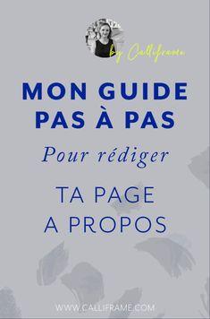 Le guide pas à pas pour rédiger votre page A Propos - Calliframe