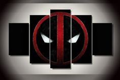 """We specialize in high quality large multi-panel wall canvas, purchase this amazing 5 Panel """"Deadpool Face Mark"""" Canvas Wall Art today. Deadpool Painting, Deadpool Face, Deadpool Fan Art, Deadpool Gifts, Deadpool Quotes, Deadpool Tattoo, Deadpool Costume, Deadpool Funny, Manualidades"""