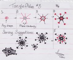 Tangleflake #3~Zentangle