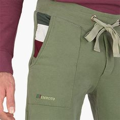 #sportswear #peacekeeper - Mens #sweatpants - Military green. Soft and comfortable cotton sweatpants. Ribbed stretch cotton waistband and ankles. Drawstring at waist for a perfect fit. Two comfortable pockets at hips.