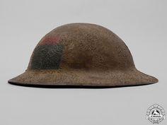 A First War Mark II 102nd Infantry Battalion Helmet   eMedals