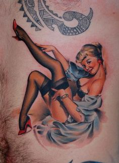 For Men Tattoo Sexy Pin Up Girl | ... Pose with Pin-Up Girl Tattoos « Tattoo Articles « Ratta Tattoo