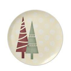 Christmas 1 : Trees Big Dots Green Dinner Plate 5