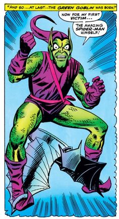The Green Goblin tells his origin story (from Amazing Spider-Man #40)