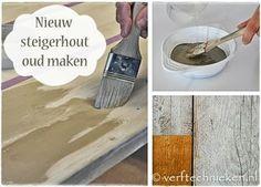 DIY Steigerhout vergrijzen - www.verftechnieken.nl