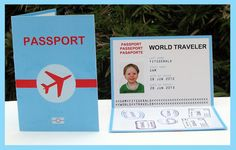 Airplane Passport Birthday Party Printable