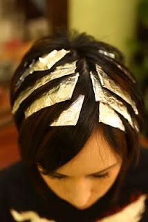 Budget Beautiful DIY: Hair Highlight Tutorial. I needed this pin for my hair tonight!