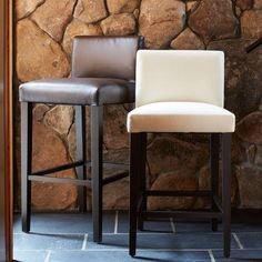 Porter Leather Bar + Counter Stool See color on site
