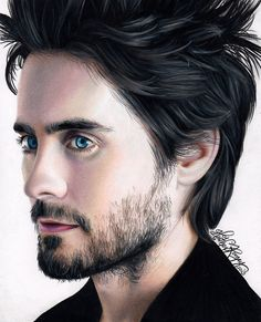 Heather Rooney Art - Colored pencil drawing of Jared Leto