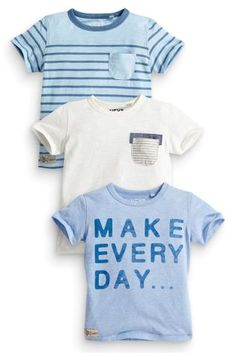 Buy Three Pack Slogan T-Shirts (3mths-6yrs) online today at Next: United States of America