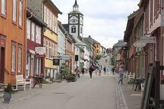 Former mining town revitalised; now a World Heritage site by Hans Quentmeier World Heritage Sites, Ancestry, Norway, Landscapes, Mountain, Street View, Memories, Country, Pictures