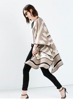 Todays Coveted Working Look: Zara Poncho Coat