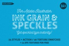 Ink Grain&Speckles for Illustrator by Guerillacraft on Creative Market