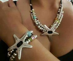 Collar y pulsera estrella