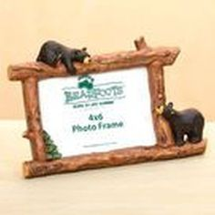 Big Sky Carvers Woodsy Bears Frame 4x6.    $21.99