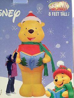 Gemmy 8' Disney Winnie The Pooh Caroler Christmas Airblown Inflatable | eBay