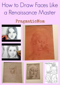 How to Draw Faces Like a Renaissance Master with images from Da Vinci exhibit from Museum of Fine Arts Boston :: PragmaticMom