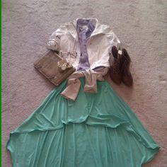 For the streetchic SD girl! Pastel color blocking with the mint 'Anna' fishtail skirt http://shavonnedeann.com - @shavonne_deann- #webstagram