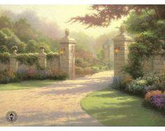 Summer Gate by Thomas Kinkade